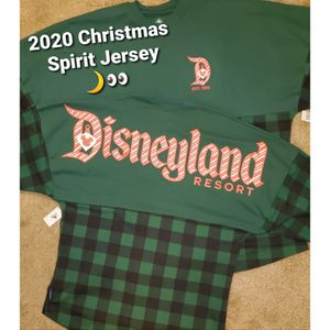 New Disney Parks Spirit Jersey [Christmas Holiday - Green Flannel] for Sale in Lakewood, CA