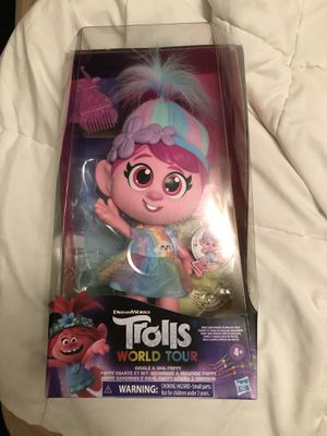 Trolls World Tour GIGGLE & SING POPPY Singing Talking Doll Discontinued IN HAND! for Sale in Davie, FL