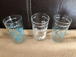 1964 Flinstone glass juice glasses for Sale in Chicago, IL