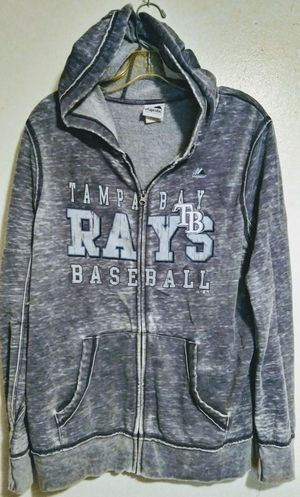 Womens XL Tampa Bay Rays zip front jacket q pockets and hoodie for Sale in Plant City, FL