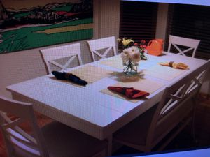 Farm table with chairs And bench for Sale in Hilliard, OH