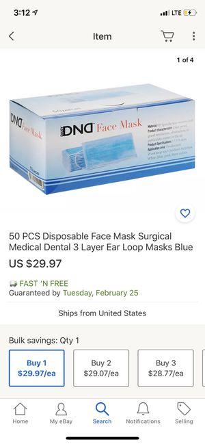 Surgical medical use face mask, 3 layers, waterproof for Sale in Monterey Park, CA