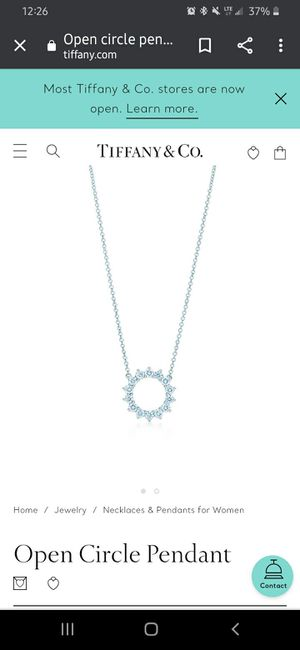 Tiffany and company diamond platnium necklace for Sale in Smyrna, TN