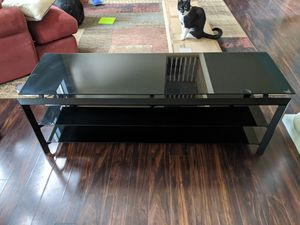 Black glass television stand for Sale in Olympia, WA