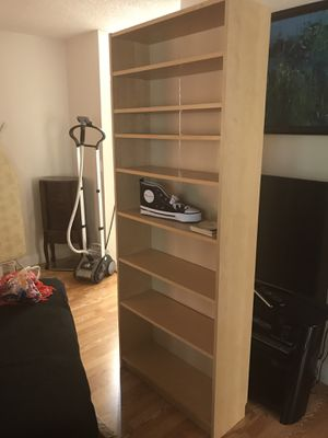 Beige wooden bookshelves for Sale in Boca Raton, FL
