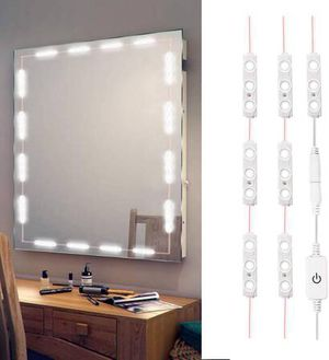 LED Vanity Mirror Lights Kit 3M 10Ft Ultra Bright White LED Lights Strip Dimmable Makeup Mirror Lights Waterproof LED Module Lights 6000K 1200LM Mirr for Sale in Pomona, CA