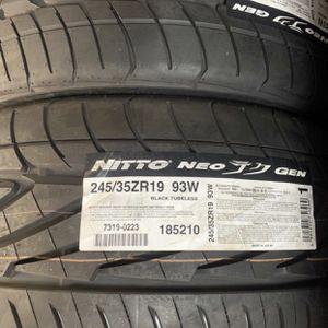 "19"" NITTO NEO GEN TIRES 245/35ZR19 ......$109 EA for Sale in La Habra, CA"