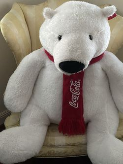 Giant Plush Coca-Cola Polarization Bear - Great For Valentine's Day for Sale in San Diego,  CA