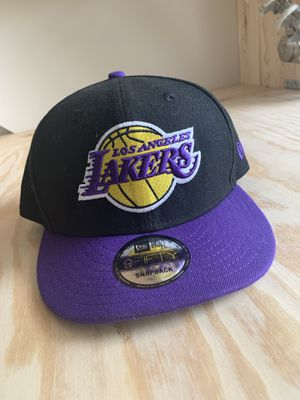 NWT New Era Los Angeles Lakers Basketball Cap Black for Sale in Farmville, VA