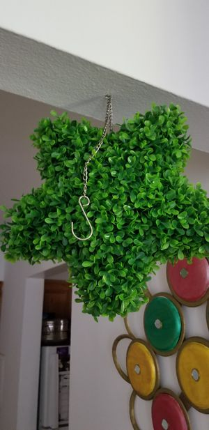 2 star shaped hanging fake plant for Sale in Des Plaines, IL