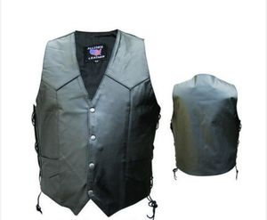 Men's motorcycle leather vest for Sale in Pasadena, TX