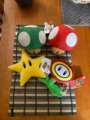 Officially licensed brand new Mario Plushies for Sale in Henderson, NV