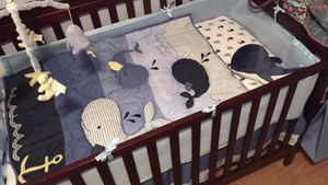 Nautical crib BEDDING (5 piece) for Sale in Watertown, CT