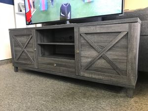 NEW, Oracle TV Stand up to 85in TVs, Distressed Grey, SKU 182290 for Sale in Huntington Beach, CA