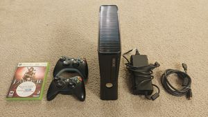 Xbox 360 S Console with 2 Controllers + Game for Sale in Kirkland, WA