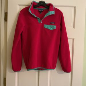 Pink Patagonia Lightweight Synchilla Snap -T Pullover for Sale in Memphis, TN