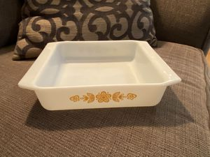 Vintage Pyrex Butterfly Gold Square Baking Pan Dish for Sale in Snohomish, WA
