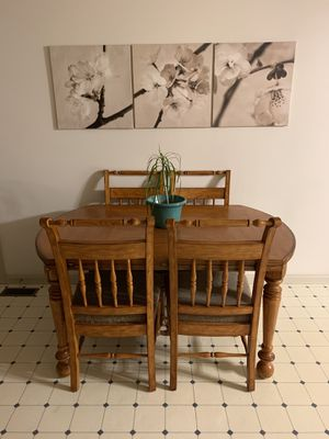 Wood Dining Set (Table and Four Chairs) for Sale in Elizabethton, TN