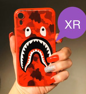 Brand new cool iphone XR case cover rubber bape aape camo red army shark anime mens guys hypebeast hype swag for Sale in San Bernardino, CA