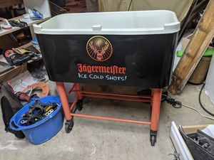 Jagermeister rolling cooler promotional beer tub pool deck party man cave for Sale in Ormond Beach, FL
