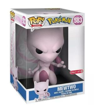 """Funko Pop! Games Pokemon 10""""inch MEWTWO #583 Target Exclusive Vinyl Figure Collectible Bobblehead for Sale in San Diego, CA"""