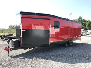 2020 8.5X28 TRAILS WEST BUMPER PULL ENCLOSED ATV/SNOWMOBILE TRAILER for Sale in North Jackson, OH