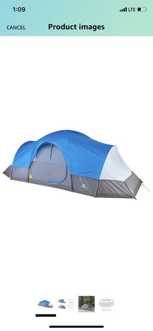 Outbound Dome Tent for Camping with Carry Bag and Rainfly | Perfect for Backpacking or The Beach | 8 & 12 Person | Blue for Sale in Phoenix, AZ