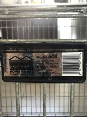 Large/extra large metal dog crate for Sale in Chicago, IL