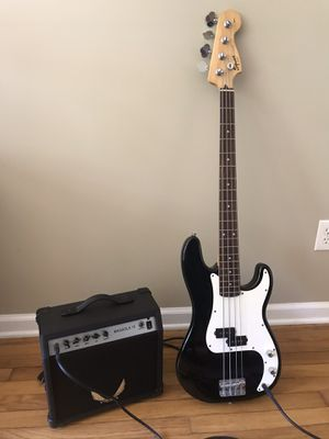 Squier Affinity P-Bass Guitar + Dean amp. for Sale in Monroe, CT