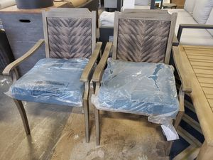 2 brand new outdoor patio furniture chairs tax included delivery available for Sale in Hayward, CA
