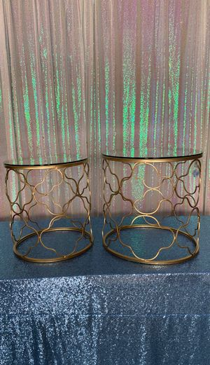 End tables gold accent for Sale in Bakersfield, CA