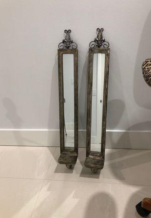 Mirrored Sconce candle holders for Sale in North Lauderdale, FL