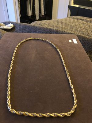 18k solid gold rope chain for Sale in Tampa, FL