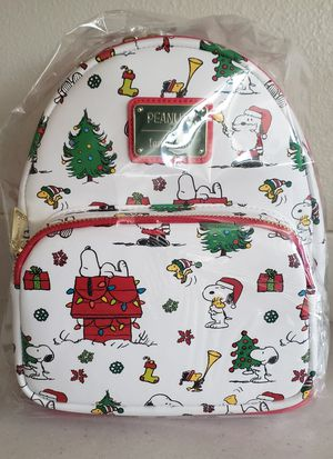 Back Friday Sale! Loungefly Peanuts Snoopy Holiday AOP mini backpack for Sale in Pomona, CA