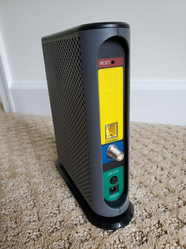 Cable modem: MOTOROLA MB8600 DOCSIS 3.1 Cable Modem, 6 Gbps Max Speed. Approved for Comcast Xfinity Gigabit, Cox Gigablast, and More