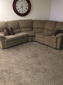 Tan Couch/ Each Side Reclines for Sale in Lebanon,  TN