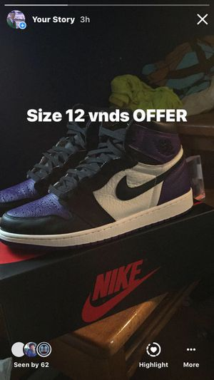 Jordan 1 High Court Purple for Sale in Smyrna, DE