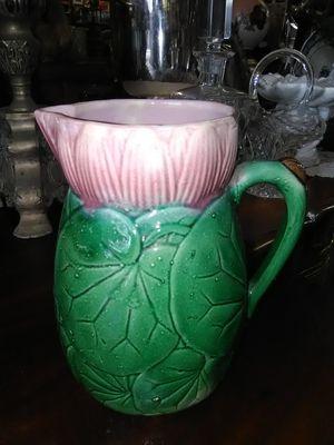 Vintage antique Majolica pitcher flower vase for Sale in La Mesa, CA