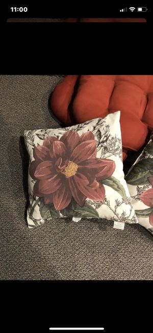 Outdoor accent pillows (2) for Sale in Dearborn Heights, MI