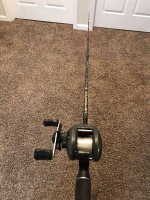 Fishing rod & reel shimano curado CU 201 & abu García vengeance 7'0 $100 not low price for Sale in Salida, CA