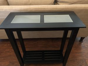 Black Table with Glass Inserts for Sale in Wildomar, CA