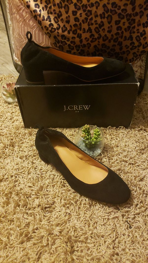 J. Crew Anya Leather Block Heels SIZE 9 NEVER WORN