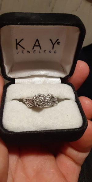 Sterling silver wedding band set (2 rings) for Sale in Eagle Lake, FL
