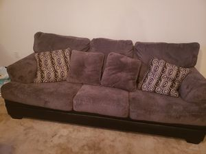Soft grey couch for Sale in Cypress Gardens, FL