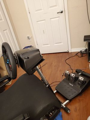 Cockpit racing wheel stand pro with gaming chair included it for Sale in Miami, FL