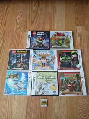 Nintendo 3Ds Game lot of 9 Super Mario Bros 2 Kid Icarus Donkey Kong for Sale in Champaign, IL