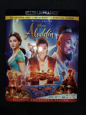 *NEW* Disney's Aladdin (2019) 4K UHD/HDR BluRay for Sale in Spring, TX