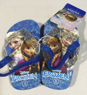 New Frozen Elsa and Anna flip flops -toddler size 5/6 for Sale in Riverside, IL