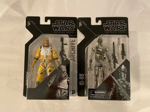 "Star wars the black series archive edition 6"" bossk and ig-88 for Sale in Salem, NH"