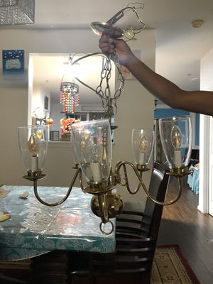 5 bulb Gold Chandelier for Sale in Frederick, MD